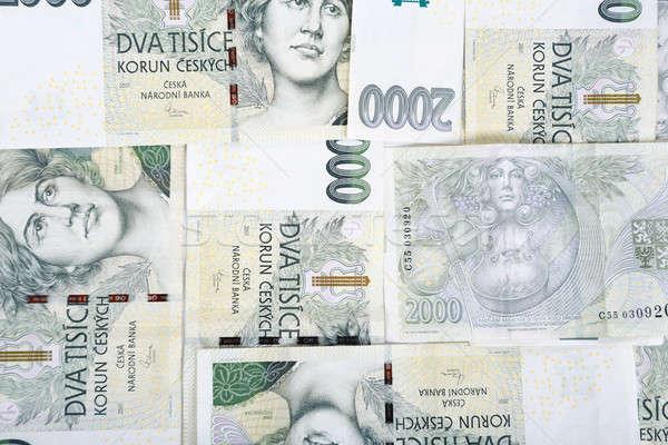 czech banknotes crowns background Stock photo © artush