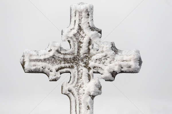 detail of religion symbol calvary cross outdoor Stock photo © artush
