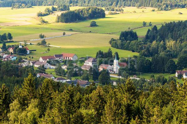 czech landscape known as Czech Canada with village Stock photo © artush