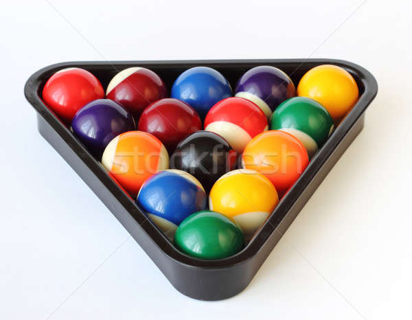 Brightly colored pool or billiard balls on white Stock photo © artush