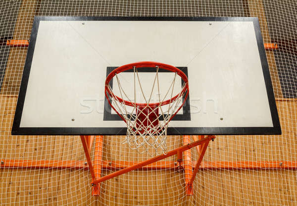 Basketball hoop cage in public gym Stock photo © artush