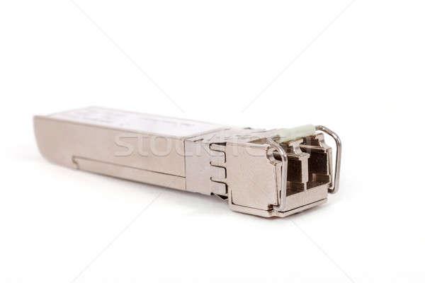 Optikai modul hálózat kapcsoló fehér izolált Stock fotó © artush