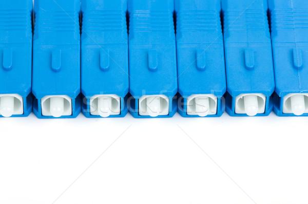 blue fiber optic SC connector Stock photo © artush