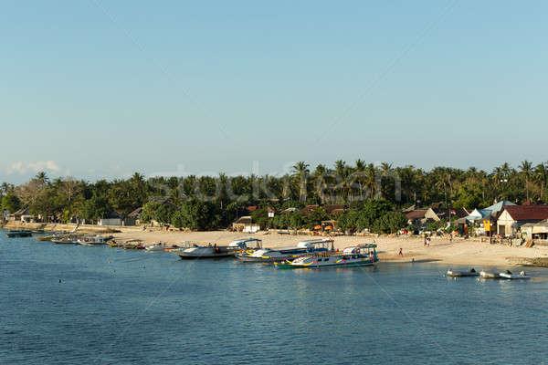 Sabbia spiaggia barca bali Indonesia isola Foto d'archivio © artush
