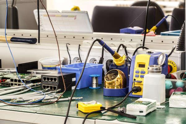 Electronics équipement travail nécessaire outils construction Photo stock © artush