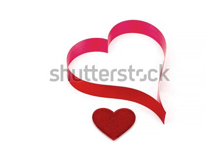valentine's paper hearts on a white background Stock photo © artush