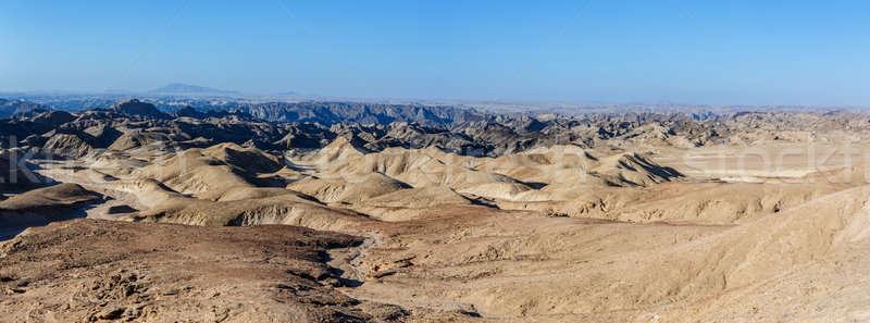 Stock photo: fantrastic Namibia moonscape landscape, Eorngo