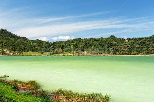 озеро известный туристическая достопримечательность север горные лет Сток-фото © artush