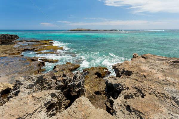 Paradis Rock plage Madagascar indian océan Photo stock © artush