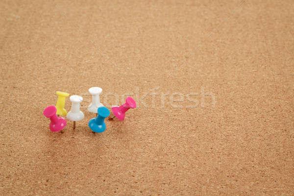 Kurk boord kleur ruimte bericht kantoor onderwijs Stockfoto © artush