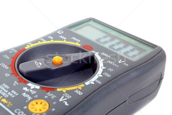 Modern digital multimeter on a white background Stock photo © artush