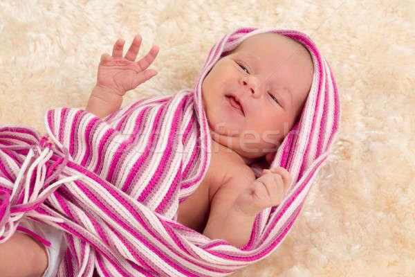 smiling newborn baby Stock photo © artush
