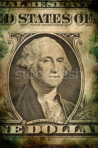 Makró Washington USA dollár bankjegy grunge Stock fotó © artush