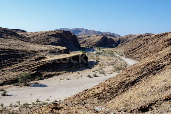 Stock photo: fantrastic Namibia moonscape landscape