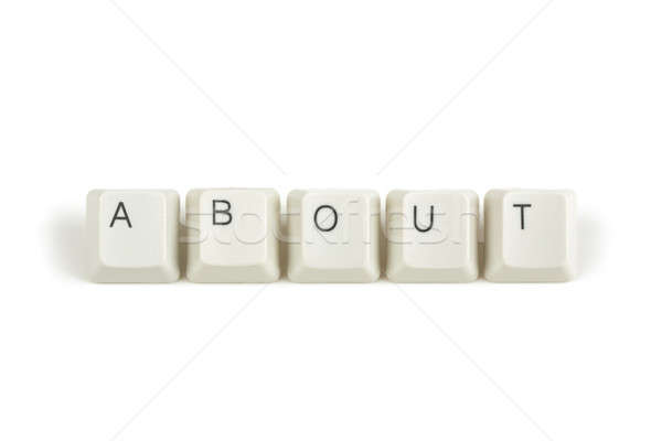about from scattered keyboard keys on white Stock photo © artush