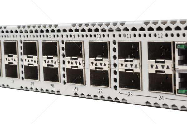 Ethernet değiştirmek lif optik modül Stok fotoğraf © artush