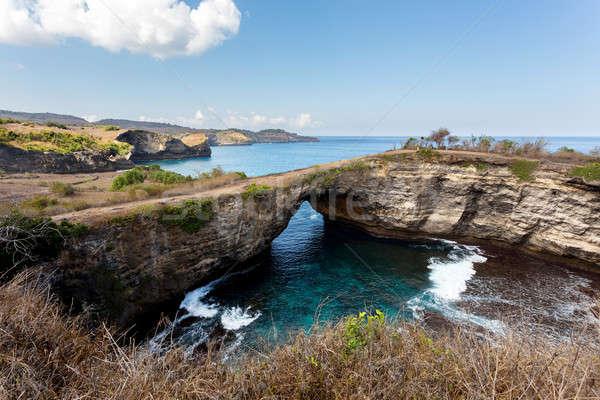 туннель кратер острове сломанной пляж Сток-фото © artush