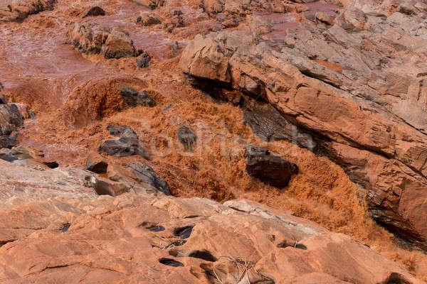 Fluss Madagaskar Stream rot regnerisch Jahreszeit Stock foto © artush
