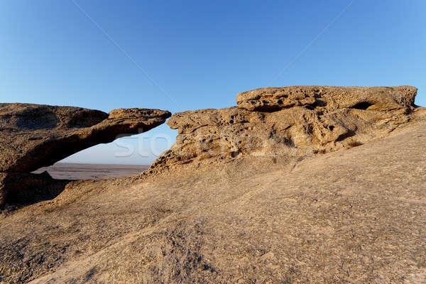 Rock formation in Namib desert in sunset, landscape Stock photo © artush