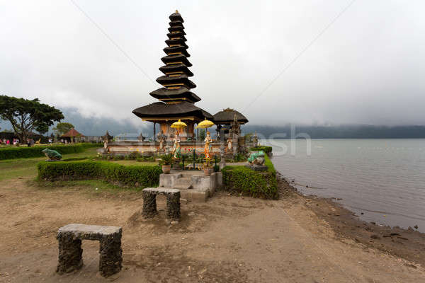 Acqua tempio lago bali noto sereno Foto d'archivio © artush