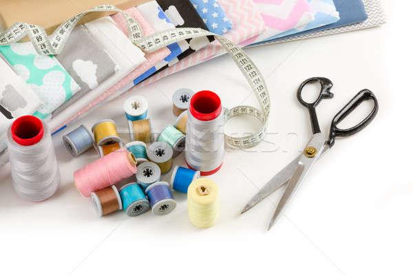 Algodão tecido alfaiate medição fita materialismo Foto stock © artush