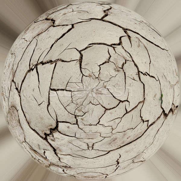 Planet ball of grunge mud cracks texture Stock photo © artush