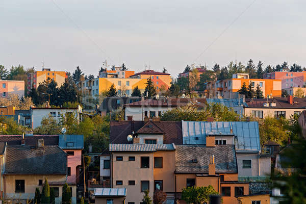 residental houses in city Jihlava Stock photo © artush