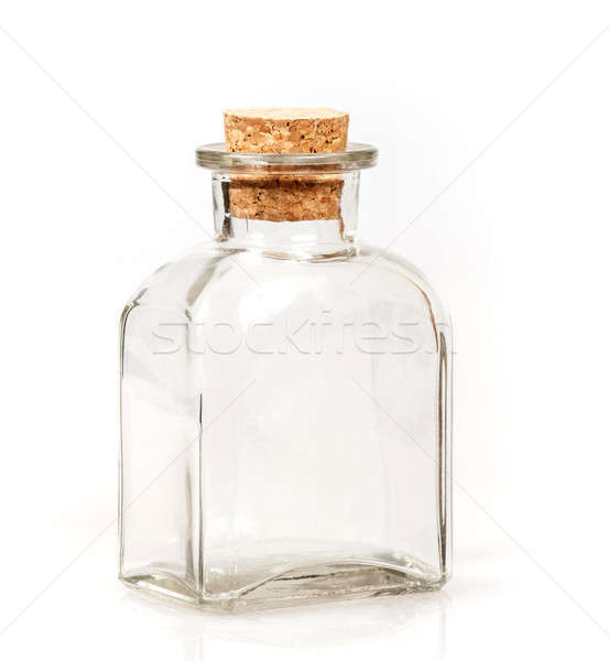 blank glass bottle with cork stopper Stock photo © artush