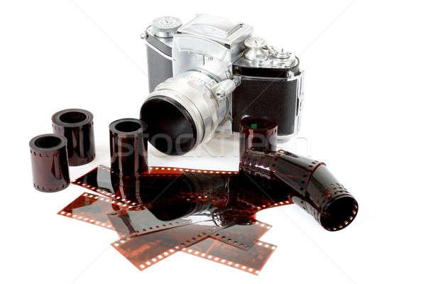 Analog vintage kamery kolor negatywne Zdjęcia stock © artush