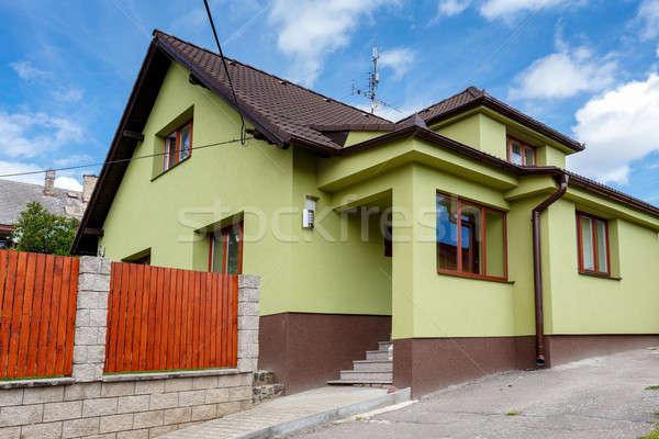 repaired rural house Stock photo © artush
