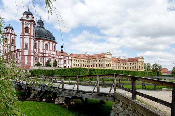 Berühmt Barock Tschechische Republik Himmel Frühling Gras Stock foto © artush