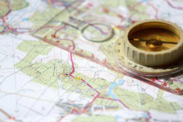 古い コンパス 地図 詳しい ストックフォト © artush