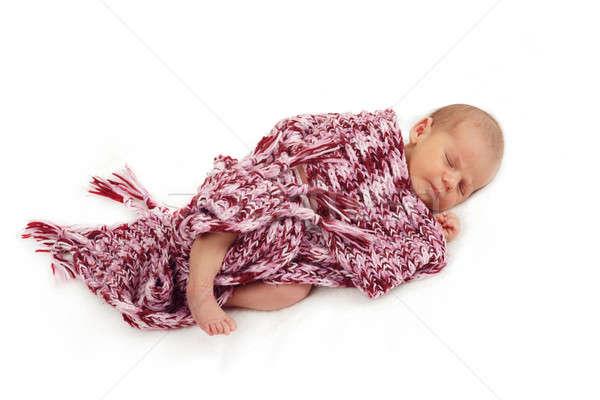sleeping newborn baby Stock photo © artush