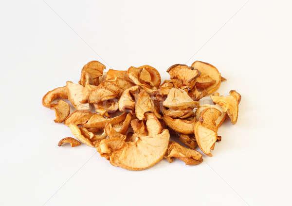 Stockfoto: Gedroogd · appels · witte · voedsel · natuur · vruchten