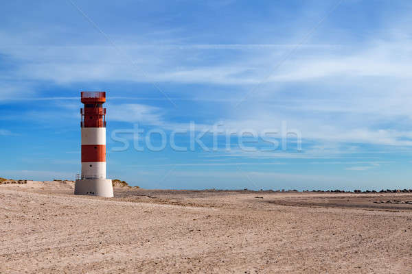 lighthouse at heligoland dune island Stock photo © artush