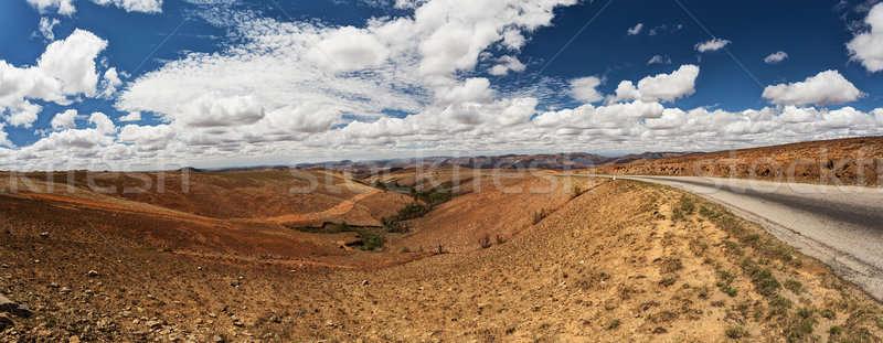 Traditional Madagascar highland landscape Stock photo © artush