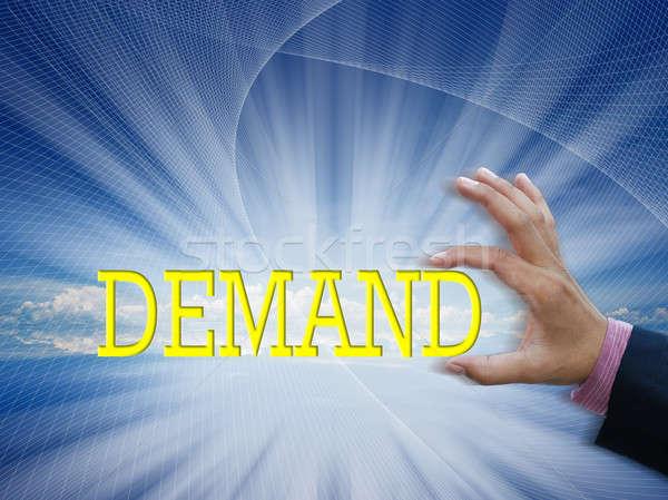 бизнеса Идея желтый слово привлекательный стороны Сток-фото © arztsamui
