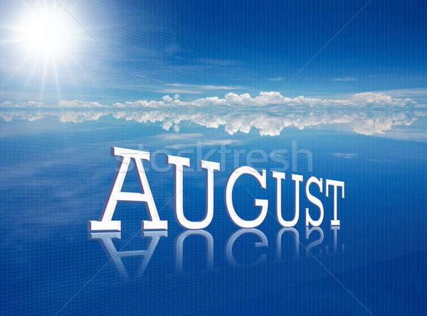 Ağustos kelime çekici hat doğa iş Stok fotoğraf © arztsamui