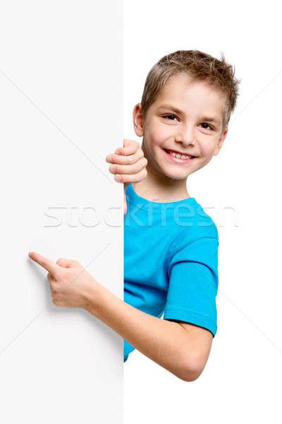 портрет счастливым мало мальчика белый изолированный Сток-фото © ashumskiy