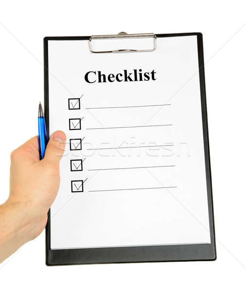 Checklist and Clipboard Stock photo © ashumskiy