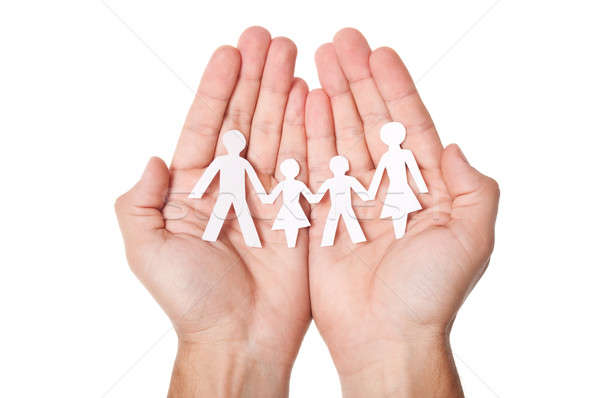 Paper family in hands Stock photo © ashumskiy