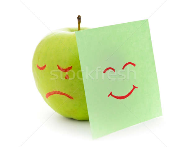 Crying apple Stock photo © ashumskiy