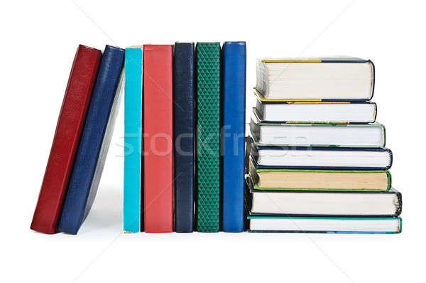 Lehrbücher weiß Tabelle Buch Schule Hintergrund Stock foto © ashumskiy