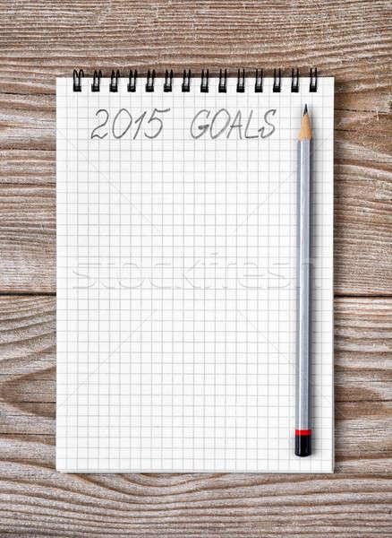 ноутбук карандашом год 2015 Сток-фото © ashumskiy