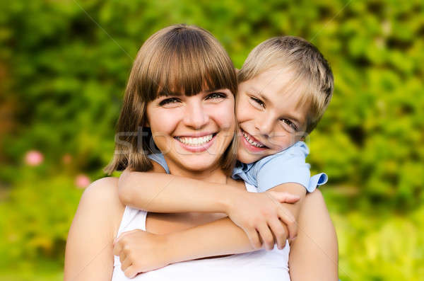 Portrait of mother and son Stock photo © ashumskiy