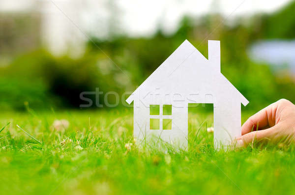 Hand hold house Stock photo © ashumskiy