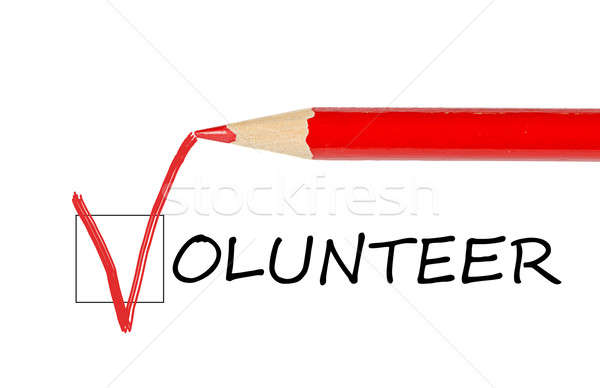 Volunteer message and red pencil  Stock photo © ashumskiy