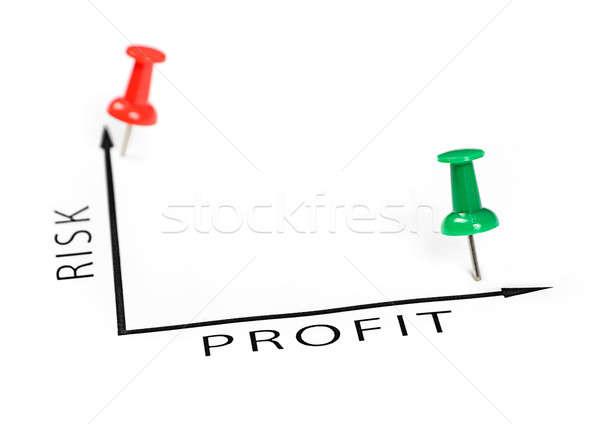 Kâr grafik yeşil kırmızı pin beyaz Stok fotoğraf © ashumskiy