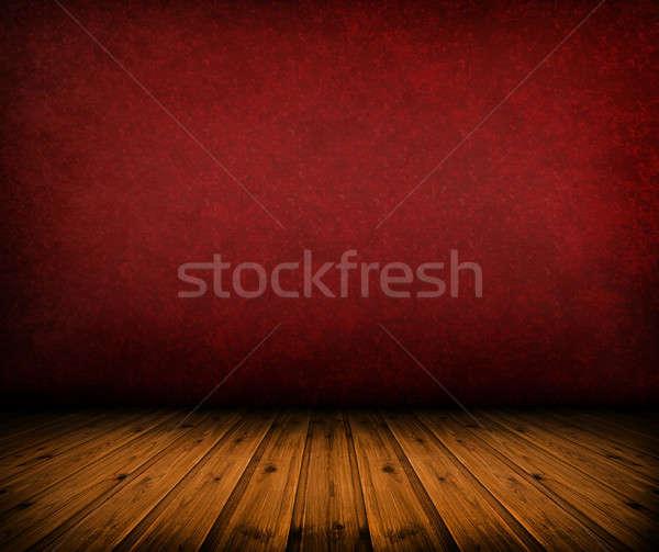 Bağbozumu kırmızı oda karanlık artistik Stok fotoğraf © ashumskiy