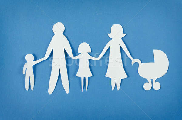 Happy paper family Stock photo © ashumskiy